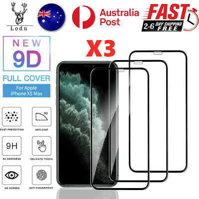 AU5.26 • Buy 3X Full Cover Tempered Glass Screen Protector For IPhone7 8 XR 11 12 13 Pro Max