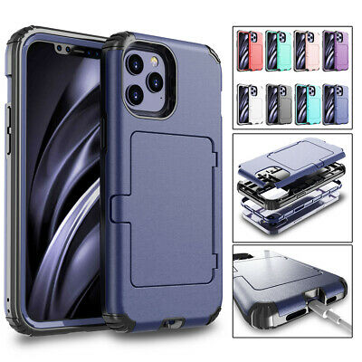 AU13.53 • Buy For IPhone 12 11 Pro Max XS XR X 8 7 6 Plus Flip Credit Card Holder Case Cover
