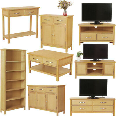 £93.99 • Buy Solid Oak Living Room Furniture Wooden Cabinet Coffee Table TV Unit Sideboards