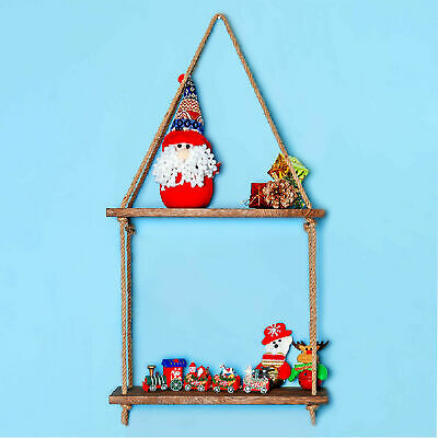 £8 • Buy 3Pcs Wooden Floating Wall Mounted Shelf Display Filigree Storage Unit Home Décor