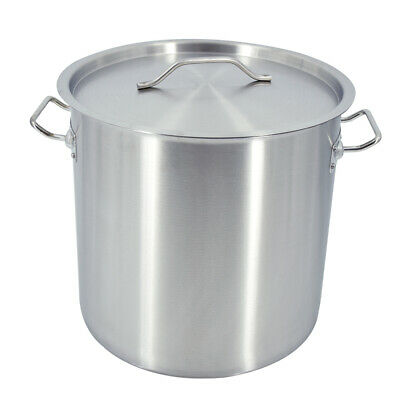 £59.90 • Buy Deep Stock Pot 25 Liter Cater Stockpot Stew Soup Cooking Boiling Stainless Steel
