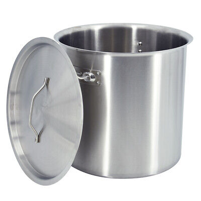 £86 • Buy 36 Liter Stainless Steel Deep Stock Pot Cater Stockpot Stew Soup Cooking Boiling