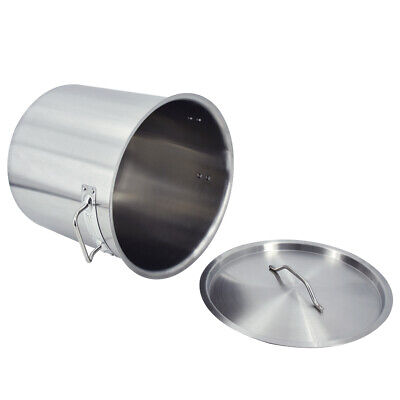 £94 • Buy Stainless Steel Stockpot Stew Soup Cooking Deep Stock Pot Kitchen Catering 50L