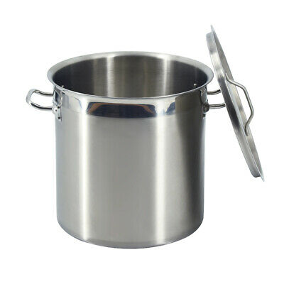 £112 • Buy 50 Liter Stsainless Steel Deep Stockpot Cater Stew Soup Cooking Pot With Lid
