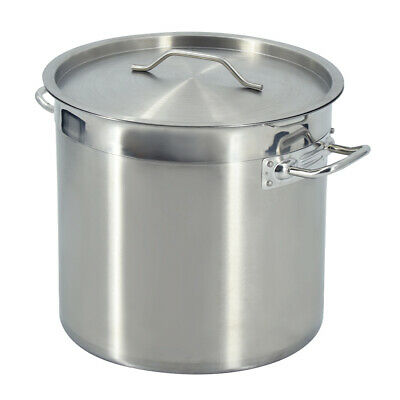 £135 • Buy Stainless Steel Deep Stockpot 71 Liter Stew Soup Cooking Pot Catering