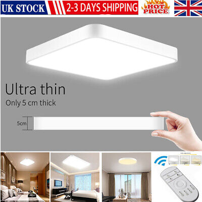 £25.99 • Buy Bright Square LED Ceiling Down Light Panel Wall Kitchen Bathroom Lamp 20W-72W