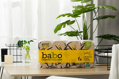 AU14.50 • Buy BABO Bamboo Toilet Paper Eco-friendly Septic Safe 8 Rolls Per Bag