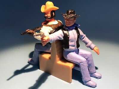 £39.99 • Buy Timpo Toy Original Wild West Late Issue Cowboys On Train Leg Sitting Stands Rare