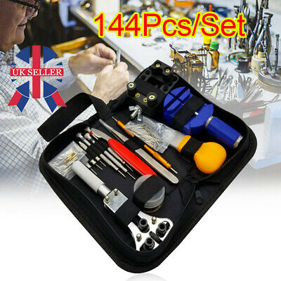 £8.68 • Buy 144 Pcs Watch Repair Tool Kit Watchmaker Back Case Battery Cover Remover Opener