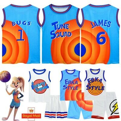 £12.99 • Buy Kids Space Jam Fancy Costume 2Pcs Jersey Shorts Outfit Basketball Tracksuit Gift