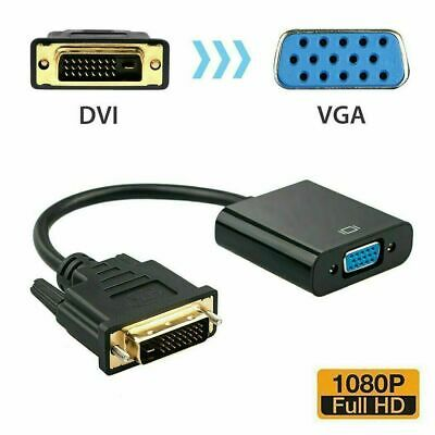 AU10.85 • Buy DVI-D 24+1 Pin Male To VGA 15Pin Female Active Cable Adapter Converter Connector