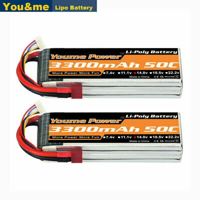 AU81.30 • Buy 2pcs 14.8V 4S 3300mAh LiPo Battery 50C Deans For RC Car Helicopter Drone FPV