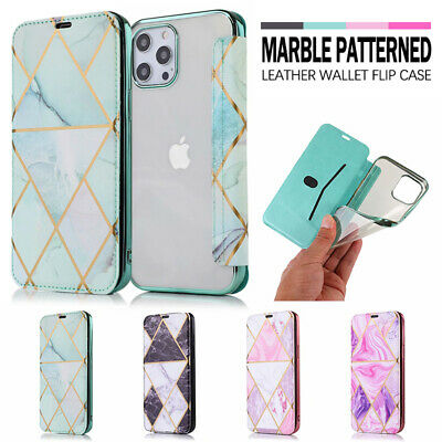 AU12.99 • Buy For IPhone 13 12 11 Pro Max XR XS 7 8 Plus Marble Case Leather Wallet Flip Cover
