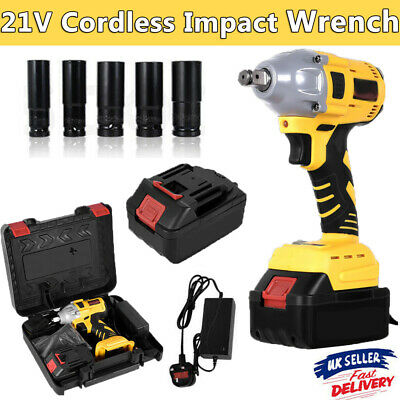 £45.99 • Buy Brushless Cordless Impact Wrench 1/2  Driver Ratchet Rattle Nut Gun With Battery