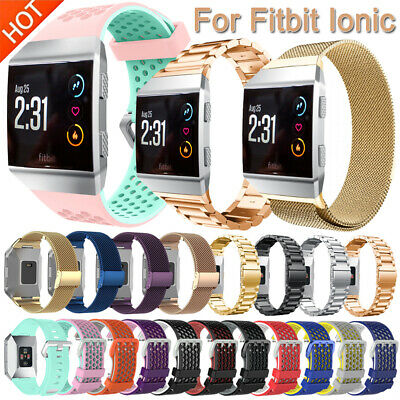 AU14.91 • Buy Replacement Stainless Steel Silicone Band Strap Bracelet For Fitbit Ionic Watch