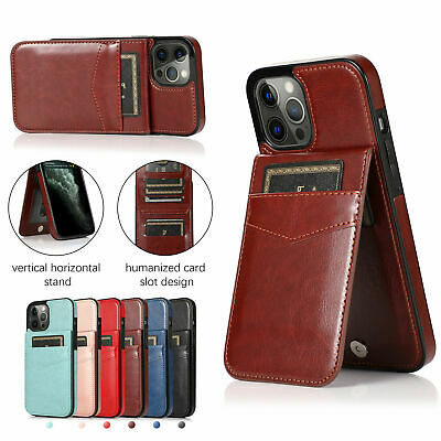 AU15.99 • Buy For IPhone 11 12 Pro XR XS Max Leather Card Holder Wallet Case Back Phone Cover