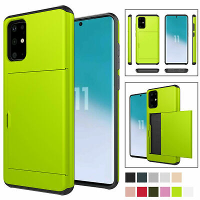 AU10.46 • Buy For Samsung Galaxy S20 S10 Plus 5G S9 S8 Plus Rugged Back Case With Card Holder