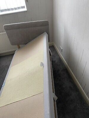 £80 • Buy Bensons For Beds Single Ottoman Divan Bed Grey With Headboard Good Condition