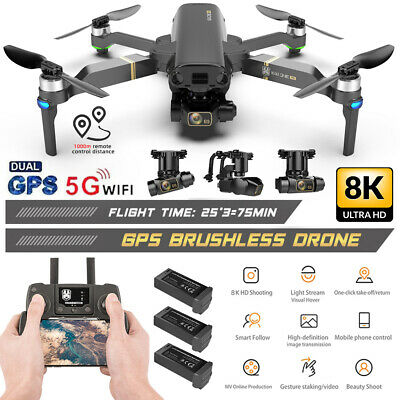 AU321.59 • Buy Brushless 5G WiFi GPS Drone With HD Dual Camera Follow Me Selfie RC Quadcopter