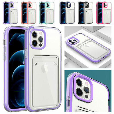 AU9.26 • Buy For IPhone 12 11 Pro Max XS XR 8 7 SE Crystal Case Cover With Wallet Card Holder