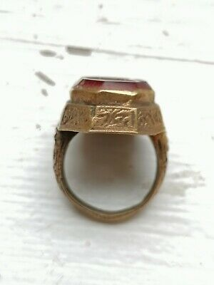 £32.99 • Buy ANTIQUE NEAR EASTERN RING INTAGLIO STONE SEAL (18th To 19th Century Period).218