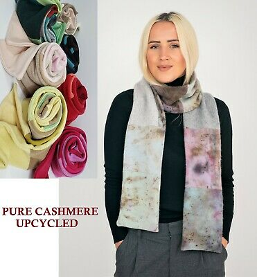 £24.99 • Buy # 100% Pure Cashmere Scarf Shawl Double Unisex Handmade Gift Patchwork S001