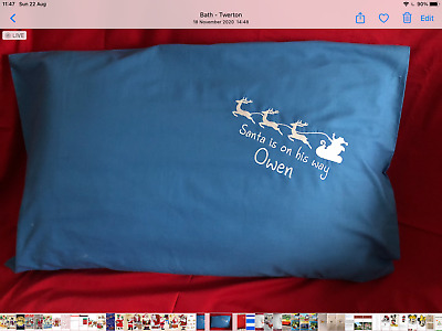 £8 • Buy Christmas, Personalised Embroidered Children's Pillowcase
