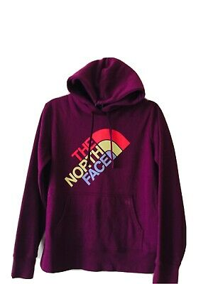 £16.50 • Buy North Face Womens Trivert Pullover Hoodie Spell Out Long Sleeve Burgundy M