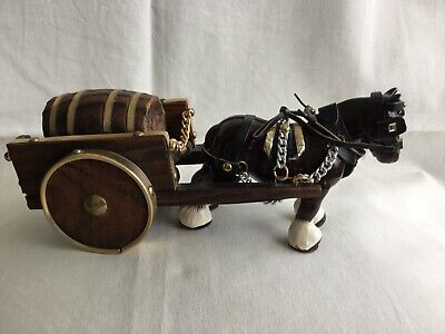 """£17.99 • Buy Vintage Shire Horse And Cart Ornament.Approx 10"""" Long."""