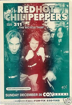 $14.51 • Buy RED HOT CHILI PEPPERS / 311 SAN DIEGO 2004 CONCERT TOUR POSTER - RHCP Group Shot