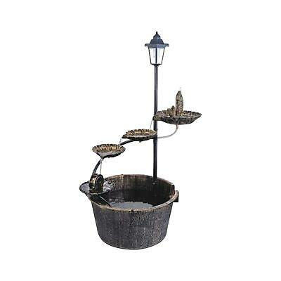 £46.99 • Buy Garden Water Feature Fountain With Solar Light Lotus Cascading