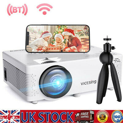 £58.59 • Buy VicTsing Mini WiFi Bluetooth Projector 1080P Home Theater HDMI Fr Andriod IPhone
