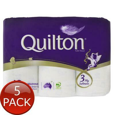 AU52.70 • Buy 5 X QUILTON TISSUE ROLL MARINE 3PLY 12 PACK TOILET PAPERS WIPES SOFT BATHROOM