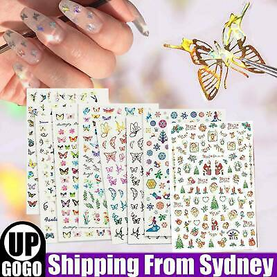 AU5.19 • Buy NEW 3D Nail Decor Decal Stickers Nail Art Accessories Butterfly Design AU STOCK