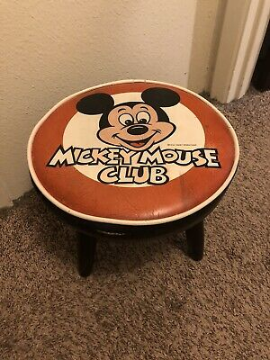 £40.81 • Buy Vintage Walt Disney Mickey Mouse Club Foot Stool Collectible Chair