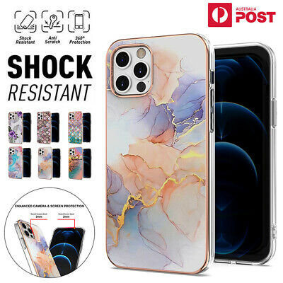 AU12.99 • Buy For IPhone 12 11 Pro Max XR XS 8/7/SE 2020 Case Marble Pattern Shockproof Cover