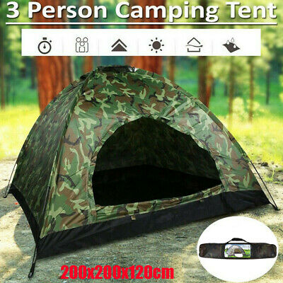 £22.99 • Buy 3-4 Man Person Family Tent Portable Tent Waterproof Outdoor Camping Festival+Bag