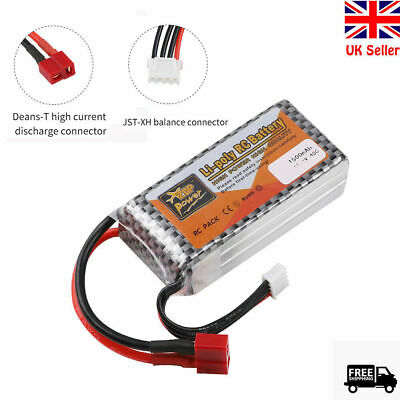 £15.99 • Buy 3S LiPo Battery 11.1V 1500mAh 40C T Plug For RC Car Drone Airplane Helicopter Uk