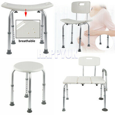 £56.99 • Buy Adjustable Shower Seat Stool Bath Chair Elderly Pregnant Mobility Disability Aid