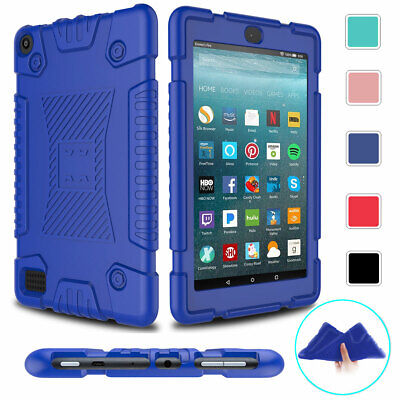 AU14.06 • Buy For Amazon Kindle Fire HD 8 7 9th 8th 7th Gen Shockproof Soft Rubber Case Cover