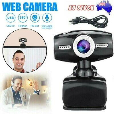 AU16.99 • Buy HD Gaming Webcam 1080P With Microphone USB 2.0 60 Fps PC Streaming Web Camera