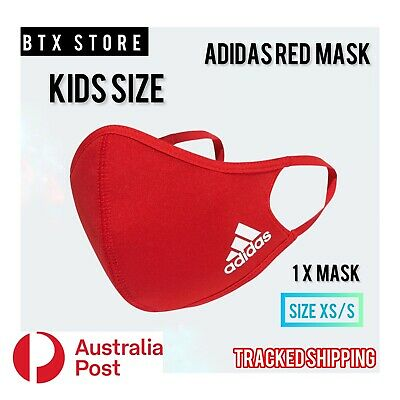 AU13.95 • Buy Brand New KIDS SIZE Adidas Face Mask Cover, XS/S, Red, Unisex. (1 X Mask)