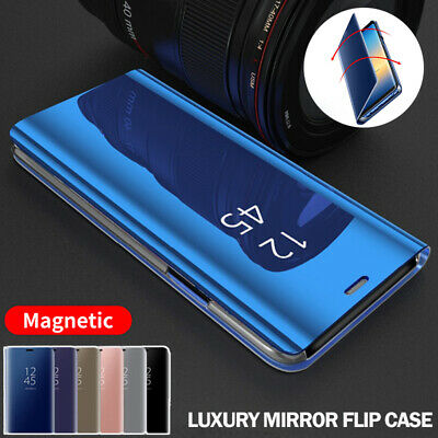 AU11.99 • Buy For OPPO A94 A74 A54 A91 A95 A15 Find X3 X2 Pro A72 Mirror Case Flip Stand Cover