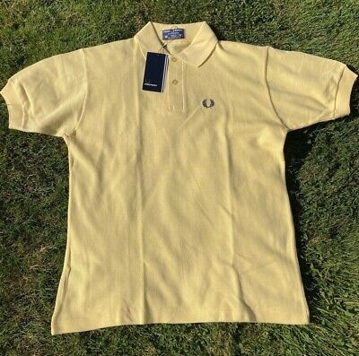 £40 • Buy FRED PERRY VINTAGE POLO T SHIRT SIZE 38 MADE ENGLAND NOS DEADSTOCK ORIGINAL 80s