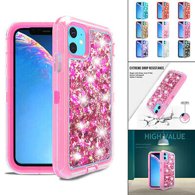 AU10.06 • Buy For IPhone 12 11 Pro XS Max XR XS X SE2 87+ Woman Glitter Bling Tough Case Cover