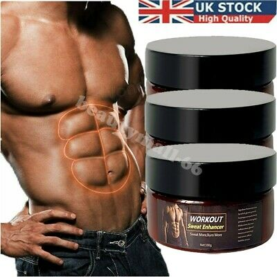 £12.98 • Buy 3Pack Slimming Cream Fat Burning Muscle Weight Loss Body Sweat Enhancer Abs Gel
