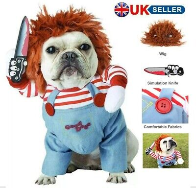 £11.51 • Buy Dog Jumpsuit Clothes Party Fancy Dress Cosplay Funny Outfit Costume Halloween