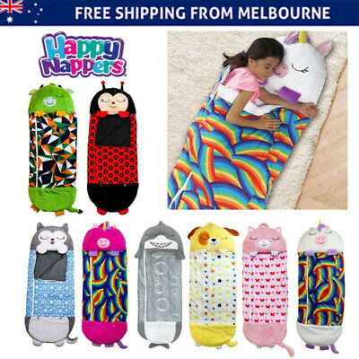 AU31.56 • Buy Happy Nappers Kids Sleeping Bag Pillow Stuffed Toy Play Camping 120cm