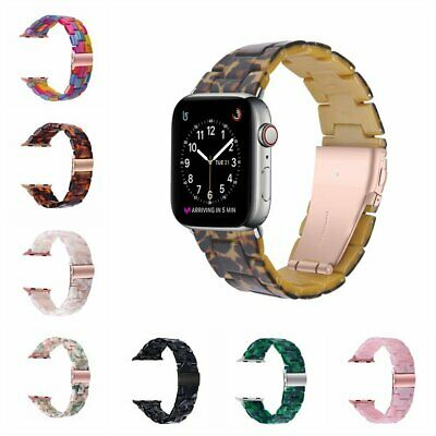 AU21.89 • Buy Secure Clasp Resin Band Strap For Apple Watch IWatch Series 4 5 6 38 42 40 44mm