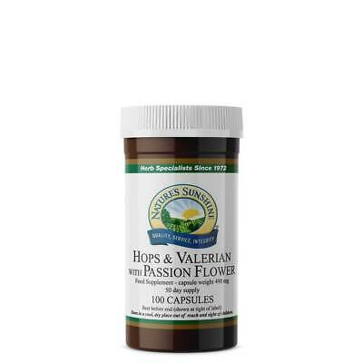 £11.11 • Buy Nature's Sunshine Hops & Valerian With Passion Flower - 100 Capsules - Nervous S